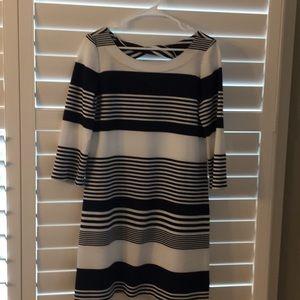 Lily Pulitzer Shift Dress Navy & White Size M
